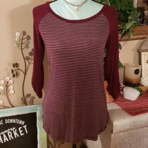 Be Cool Quarter Sleeve Top Size Small
